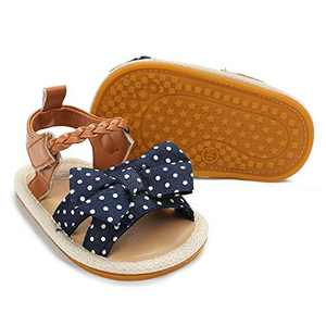 Baby Girl Sandals Summer Crib Shoes Bowknot Soft Sole Infant Girls Princess Dress Flats First Walker Shoes 6-12 month