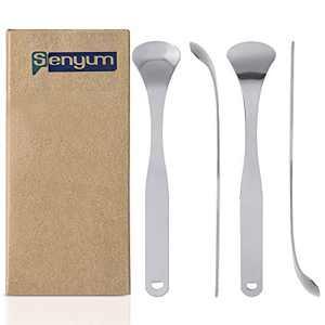 Stainless Steel Tongue Scraper, Fresh Breath Tongue Scrapers 4 Pack