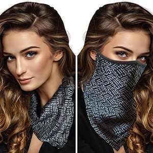 Tara Sartoria Silk Face Mask For Women, Scarf Mask, Bandana Face Mask, Ear Loops, Machine Washable, Adjustable, Filter Pocket