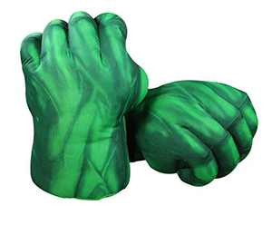 Green Boxing Gloves for Kids, illuOKey XIANGQUANWANG Fist Gloves, Premium Quality 3D PP Polyester Microfiber Filling Gloves, Ideal for Cosplay, Halloween, Costumes, Party, Birthday Gift (Green)