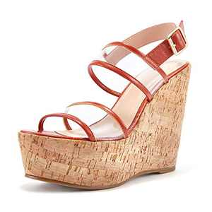 Women's Open Toe Strappy Wedge Sandal Summer Heeled Shoes