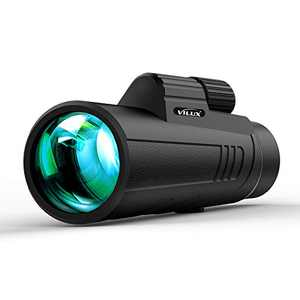 VILUX 12x42 High Power Monoculars for Adults with Low Night Vision,Monocular Telescope with 16.5 mm BAK-4 Large Prism and FMC Lens,Gifts for Bird Watching Hunting Camping Travelling Wildlife Scenery