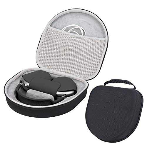 Premium Smart Case Compatible with AirPod Max Protective Hard Shell Carrying Bag Max Case Bag with Cable and Charger Storage for Headphone