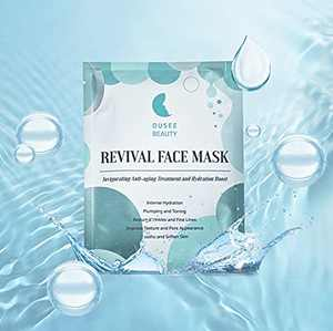 Revival Bio-Cellulose Face Sheet Mask, Natural Facial Mask with Snow Lotus and Hyaluronic Acid - Hydrating, Anti-aging, Brightening, Reducing Wrinkles and Fine Lines by OUSEE BEAUTY (1 Pack)