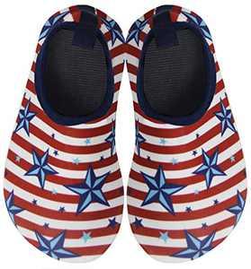 BomKinta Kids Water Shoes Boys Girls Quick Dry Non-Slip Aqua Socks for Beach Swimming Pool Red Size 6-7 M US Toddler