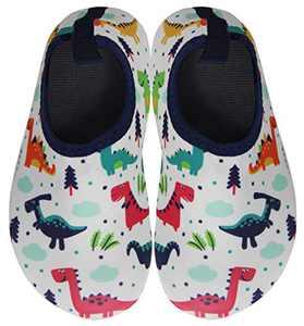 BomKinta Kids Water Shoes Boys Girls Quick Dry Non-Slip Aqua Socks for Beach Swimming Pool White Size 11-11.5 M US Little Kid