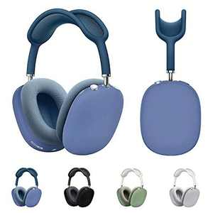 Enbiawit Case Cover Compatible with AirPod Max Headphone Soft Silicone Skin Cover, Shock-Proof and Shatter-Resistant Protective Frame Full Cover[Blue]