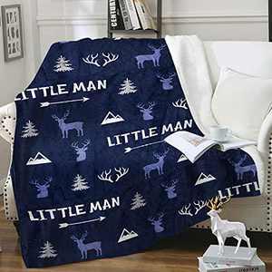"Deer Throw Blanket Moose Antlers Blanket, Plush Cozy Soft Flannel Wildland Moose Receiving Blanket for Baby Toddler, Nursery Room Couch Sofa Décor Moose Gift for Boys Girls 50"" X 60"""