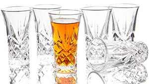 JAIEF Set of 6 Tequila Glasses Heavy Base Shot Glass , Cordial Glasses 2 oz