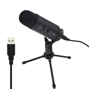 WinCret Professional USB Microphone, Recording Microphone, PC Laptop Microphone for Gaming, Streaming and Podcasts, Black