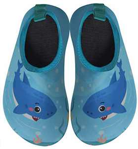 BomKinta Kids Water Shoes Boys Girls Quick Dry Non-Slip Aqua Socks for Beach Swimming Pool SkyBlue Size 11-11.5 M US Little Kid