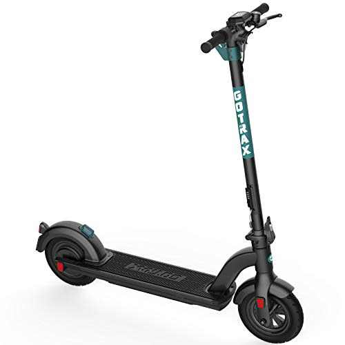 """Gotrax G Max Ultra Commuting Electric Scooter - 10"""" Air Filled Tires - 20MPH & 45 Mile Range (Black)"""