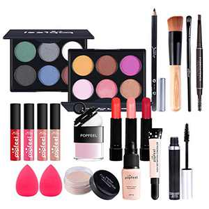 Joyeee All-in-One Makeup Gift Set Travel Makeup Kit Complete Starter Makeup Bundle Lipgloss Lipstick Concealer Blushes Powder Eyeshadow Palette Cosmetic Palette for Teen Girls & Adults #10