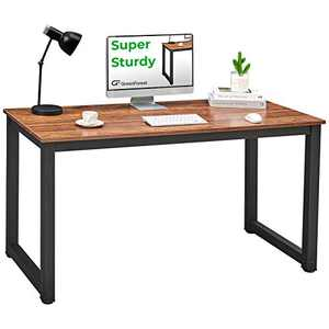 GreenForest 47inch Computer for Home Office Desk PC Workstation Writing Study and Gaming Table with Thicker-Legs,Small Modern Simple Dining Table,Easy Assemble Walnut