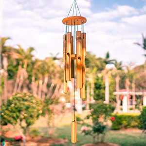 VEWOGARDEN 30'' Bamboo Wind Chimes Outdoor Deep Tone Music Relaxation Wooden Wind Chimes for Garden, Patio, Home Decor