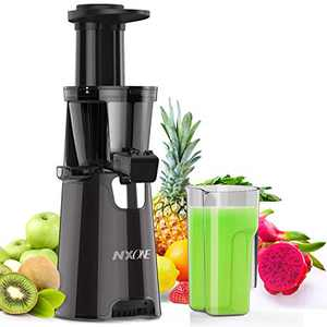 Juicer Machines,Slow Masticating Juicer Extractor Easy to Clean, Cold Press Juicer with quiet Motor/ Reverse Function, Juicer Recipes for Vegetables and Fruits.