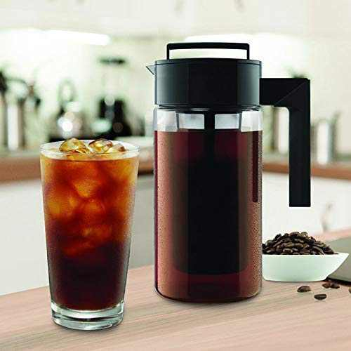 Small Coffee Maker,Us Fast Shipment 900Ml Iced Coffee Maker Cold Brew Coffee Makers With Non-Slip Handle,Stainless Steel Filter,Working For 36 Hours
