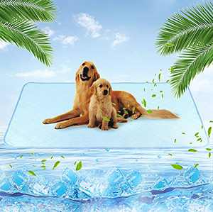 Dog Self Cooling Pad Mat - Summer Reusable Pee Pads for Dogs - Self Cool Feeling Washable Pads - Waterproof & Non Slip Bottom, for Small Medium Large Pets, Size of XL(28x47.5 inches)