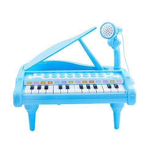 Esimorps Baby Piano Keyboard Toy for Kids, Toys for 1 2 3 4 Year Old Girls Boys, Baby Girl Gift, 24 Keys Multifunctional Musical Electronic Piano for Toddlers
