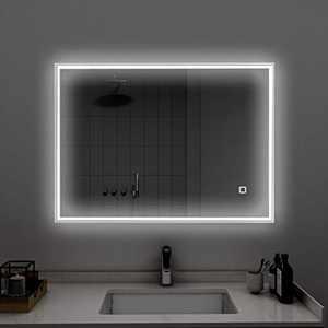 LYNSLIM20 x 28 inch LED Bathroom Vanity Mirror - Rectangular Makeup Wall Mirror with Light, Horizontal & Vertical Aluminum Alloy Explosion Proof Mirrors