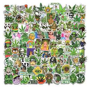 100PCS Green Stickers, Sticker for Water Bottles Laptop Computer Phone Cool Stickers