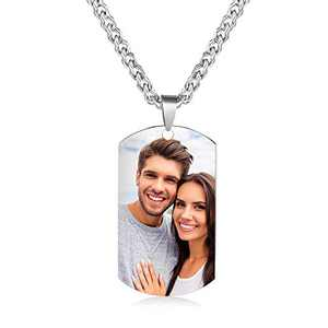 kaululu Personalized Picture Necklace for Women Men Memory Pendant Necklace with Picture for Unisex Custom Engraved Necklace That Holds Pictures Charm Necklace Gift for Girls Boys (Style 9)