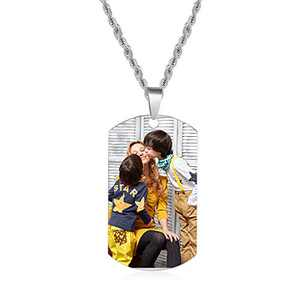 kaululu Personalized Picture Necklace for Women Men Memory Pendant Necklace with Picture for Unisex Custom Engraved Necklace That Holds Pictures Charm Necklace Gift for Girls Boys (Style 10)