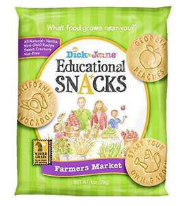 Educational Snacks I Farmers Market Highlights local food from all 50 states. (30) 1oz Bags | Sweet Vanilla Crackers ALL NATURAL, NON-GMO & NUT FREE