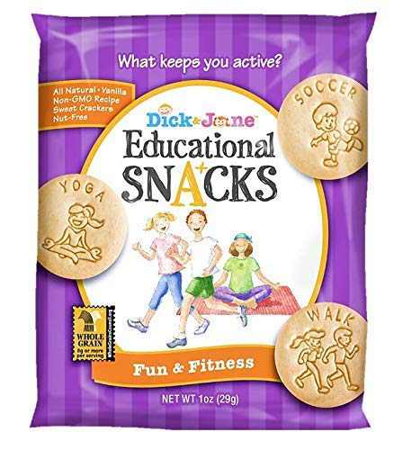 Educational Snacks I Fun & Fitness Promotes fun activities, sports & exercise (30) 1oz Bags | Sweet Vanilla Crackers ALL NATURAL, NON-GMO & NUT FREE