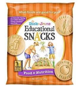 Educational Snacks I Food & Nutrition Learn about the Nutritional Benefits of Food (30) 1oz Bags | Sweet Vanilla Crackers ALL NATURAL, NON-GMO & NUT FREE