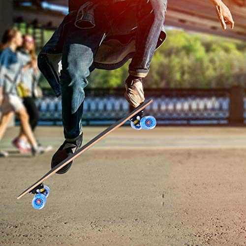 Skateboard,31 Inch Complete Skateboards Double Kick Skate Board 7 Layer Northeast China Maple Deck Skateboard for Kids and Beginners