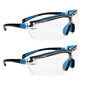 ROAR Clear Premium Safety Glasses Anti-Fog Lens UV Protection, Adjustable Earpiece ,2-pack