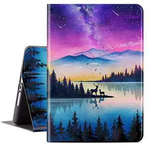 Lokigo iPad 10.2 Inch Case for iPad 9th Generation 2021, iPad 8th Generation Case 2020, iPad 7th Generation Case 2019, Protective Tablet Case for Girls Women, Auto Wake/Sleep, Forest