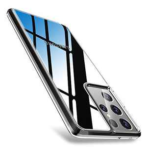 """WISMAT Samsung Galaxy S21 Case - Crystal Clear Case Compatible with Samsung Galaxy S21 6.2"""" [Never Yellow] Slim Thin Protective Phone Case Hard PC Back & Flexible Bumper Cover for Galaxy S21, Clear"""