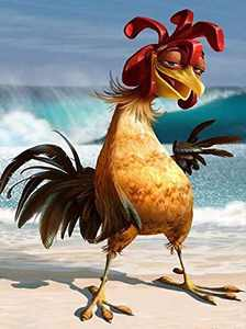 FONYANE DIY 5D Diamond Painting Beach Chicken Scene(Set by Number) Digital Painting Round Diamonds Diamond Paiting Kits for Adults Bead Pictures Arts Craft for Home Wall Decor Gift (30x40cm/12x16in)