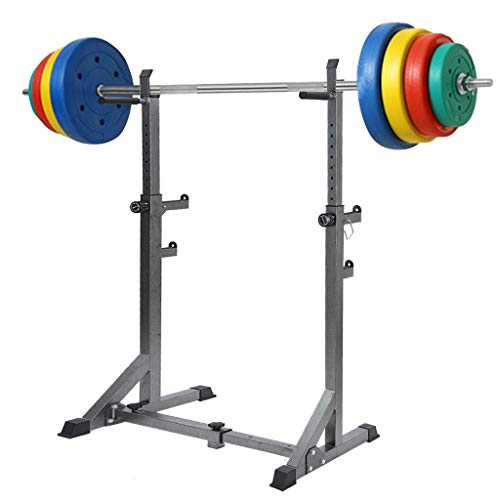 YANTI Barbell Rack Squat Rack Stand Barbell Free Press Bench Home Gym Dumbbell Racks Stands Adjustable 660LBS Max Load Multi-Function Weight Lifting Home Gym Fitness