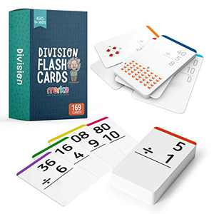 merka Division Flashcards Learning Math Facts (Numbers 0 - 12) – 2nd - 6th Grade Math Flash Cards – Homeschool/Classroom Educational Games – Set of 169 Cards