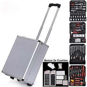 1199pcs Iron Black Household Tool Set with Rolling Box