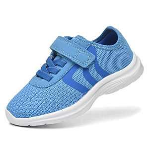 JIUMUJIPU Unisex-Child Toddler Shoes Sneakers - Black/White Little Kid Shoe/Gray Boys Running Shoes/Pink Girls Walking Shoe (Blue/Dark blue/White-0101-2, Numeric_9)