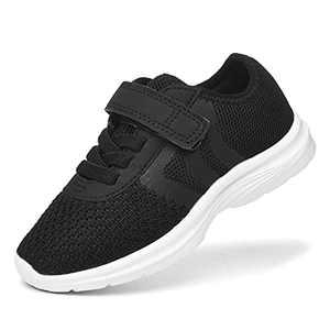JIUMUJIPU Unisex-Child Toddler Shoe Running Sneakers - Little Kid Boys Girls Walking Shoes (Black/WHITE-0101-6, Numeric_10)
