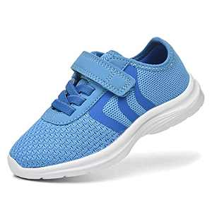 JIUMUJIPU Unisex-Child Toddler Shoe Running Sneakers - Little Kid Boys Girls Walking Shoes (Blue/Dark blue/White-0101-2, Numeric_7)