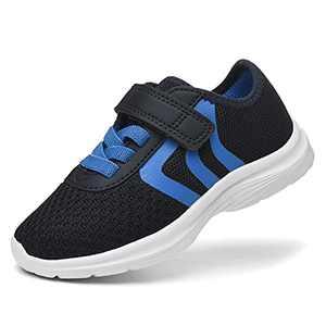 JIUMUJIPU Unisex-Child Toddler Shoes Sneakers - Black/White Little Kid Shoe/Gray Boys Running Shoes/Pink Girls Walking Shoe (Navy/Light blue/White-0101-7, Numeric_6)