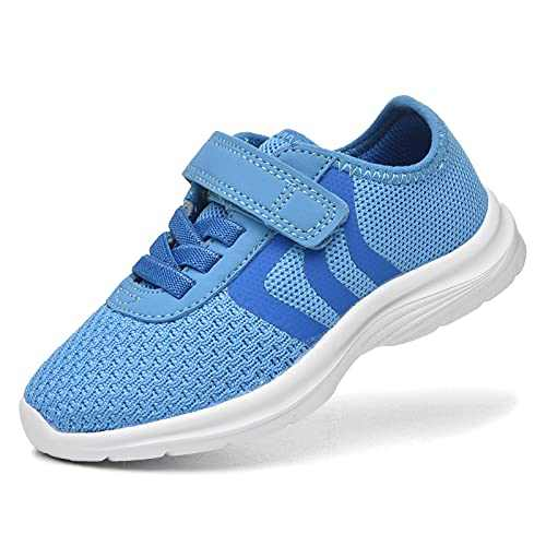 JIUMUJIPU Unisex-Child Toddler Shoes Sneakers - Black/White Little Kid Shoe/Gray Boys Running Shoes/Pink Girls Walking Shoe (Blue/Dark blue/White-0101-2, Numeric_8)