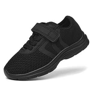 JIUMUJIPU Unisex-Child Toddler Shoe Running Sneakers - Little Kid Boys Girls Walking Shoes (Black/Black-0101-3, Numeric_6)