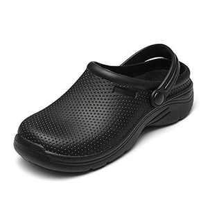 NUHEEL Clogs for Women, Slip On Garden Cloggies Mule Shoes Lightweight Work Slipon Sandals Non-Slip Waterproof Platform Comfort for Nurse Indoor Outdoor Beach