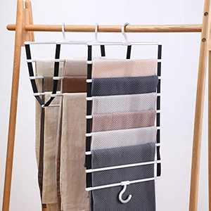 JOBOS Pants Hangers Space Saving - Folding Rack Heavy Duty Hanger for Home Storage - Magic Hangers for Pants Men's Jeans Trouser 8 Layers 2 Pack