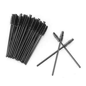 100 disposable Eyelash Mascara Brushes Wands Applicator Eyebrow Brush,Eyelash Extension Supplies(Black)