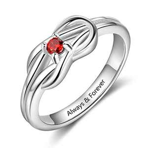 kaululu Personalized Mother Ring for Women Birthstone 3/4 Charms Ring Simulated Birthstones for Grandmother Mother Meaningful Anniversary Rings