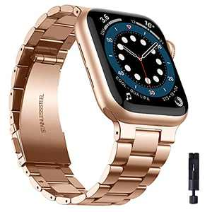 PROATL Compatible with Apple Watch Bands 42mm 44mm 38mm 40mm, Upgraded Design Solid Stainless Steel Business Replacement iWatch Strap for Series SE 6 5 4 3 2 1(Rose Gold/ 38mm)