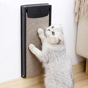 LIOOPET Wall Mounted Cat Scratching Post with Refillable Cat Scratcher Cardboard